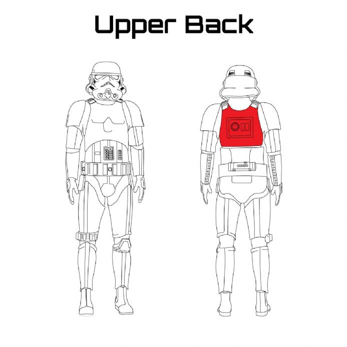 ORIGINAL STORMTROOPER ARMOUR PARTS [Upper Back]